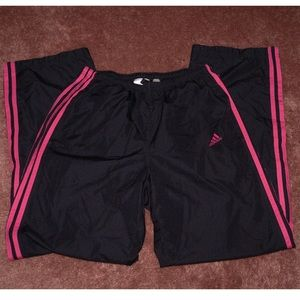 Adidas Black and pink track pants